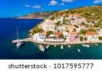 kefalonia assos village aerial... | Shutterstock . vector #1017595777