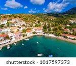 cephalonia assos village in... | Shutterstock . vector #1017597373