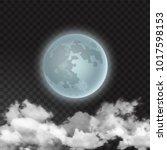 vector illustration of moon... | Shutterstock .eps vector #1017598153