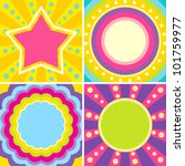 set of colorful posters in the... | Shutterstock .eps vector #101759977