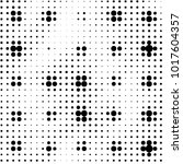 grunge halftone black and white ... | Shutterstock .eps vector #1017604357