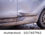 car accident. auto crash  wreck ... | Shutterstock . vector #1017607963