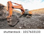 open pit manganese mining and... | Shutterstock . vector #1017633133
