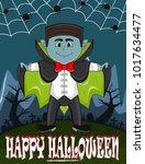 vampire for happy halloween...   Shutterstock .eps vector #1017634477
