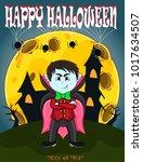 vampire for happy halloween...   Shutterstock .eps vector #1017634507