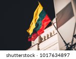 Closeup view of lithuanian flag ...