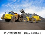 manganese mining and processing ... | Shutterstock . vector #1017635617