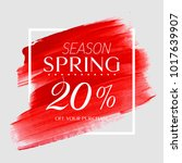 spring sale 20  off sign over... | Shutterstock .eps vector #1017639907
