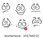 Cartoon Emotions Faces Set For...