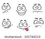 Cartoon Emotions Faces Set For...