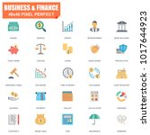 simple set of finance related... | Shutterstock .eps vector #1017644923