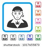glad marihuana dealer vector... | Shutterstock .eps vector #1017655873