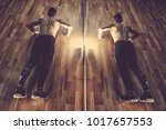 attractive muscular man doing...   Shutterstock . vector #1017657553