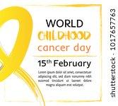 15 of february world childhood... | Shutterstock .eps vector #1017657763