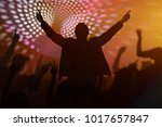 silhouettes of happy people... | Shutterstock . vector #1017657847