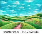Oil Pastel Painting On Canvas ...
