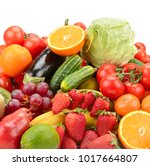 variety of healthy fresh fruits ... | Shutterstock . vector #1017664807