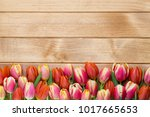 spring greetings card with...   Shutterstock . vector #1017665653