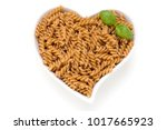 uncooked wholemeal pasta...   Shutterstock . vector #1017665923