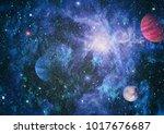 galaxy in space  beauty of... | Shutterstock . vector #1017676687