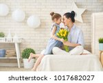 happy mother's day  child... | Shutterstock . vector #1017682027