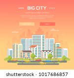 big city   modern colorful... | Shutterstock .eps vector #1017686857