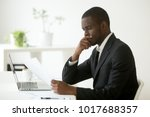 serious african american... | Shutterstock . vector #1017688357