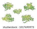 lettering set for natural... | Shutterstock .eps vector #1017690973