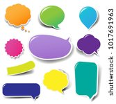color labels big set with... | Shutterstock .eps vector #1017691963