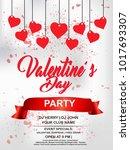 valentines day flyer  14... | Shutterstock .eps vector #1017693307