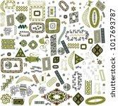 ethnic handmade ornament for... | Shutterstock .eps vector #1017693787