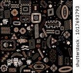 ethnic handmade ornament for... | Shutterstock .eps vector #1017693793
