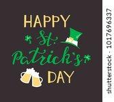 happy st. patrick's day. vector ... | Shutterstock .eps vector #1017696337