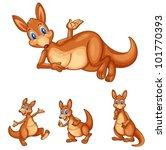 illustraiton of mixed kangaroo...   Shutterstock .eps vector #101770393