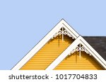 detail of the gingerbread style ... | Shutterstock . vector #1017704833