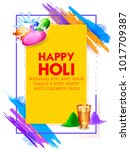 illustration of colorful happy... | Shutterstock .eps vector #1017709387