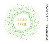 hello april spring illustration.... | Shutterstock .eps vector #1017710923