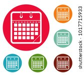 calendar office icons circle...