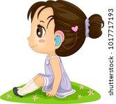 illustration of a kid girl...   Shutterstock .eps vector #1017717193