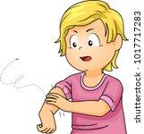 illustration of a kid boy... | Shutterstock .eps vector #1017717283