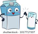 illustration of a milk box... | Shutterstock .eps vector #1017717337