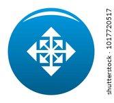 cursor displacement arrow icon... | Shutterstock .eps vector #1017720517