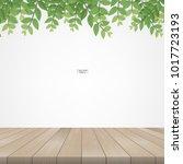 wooden terrace or wooden deck... | Shutterstock .eps vector #1017723193