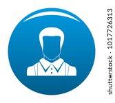 man avatar icon vector blue...