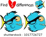 find five differences....   Shutterstock .eps vector #1017726727