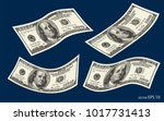 abstract halftone us dollar set ... | Shutterstock .eps vector #1017731413