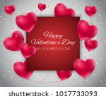 valentine s day heart love and... | Shutterstock . vector #1017733093