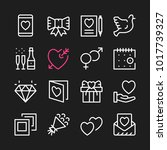 love line icons. modern graphic ... | Shutterstock .eps vector #1017739327