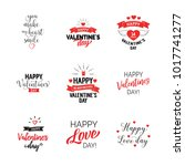 romantic valentines day... | Shutterstock .eps vector #1017741277