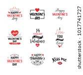 affection lettering set | Shutterstock .eps vector #1017741727